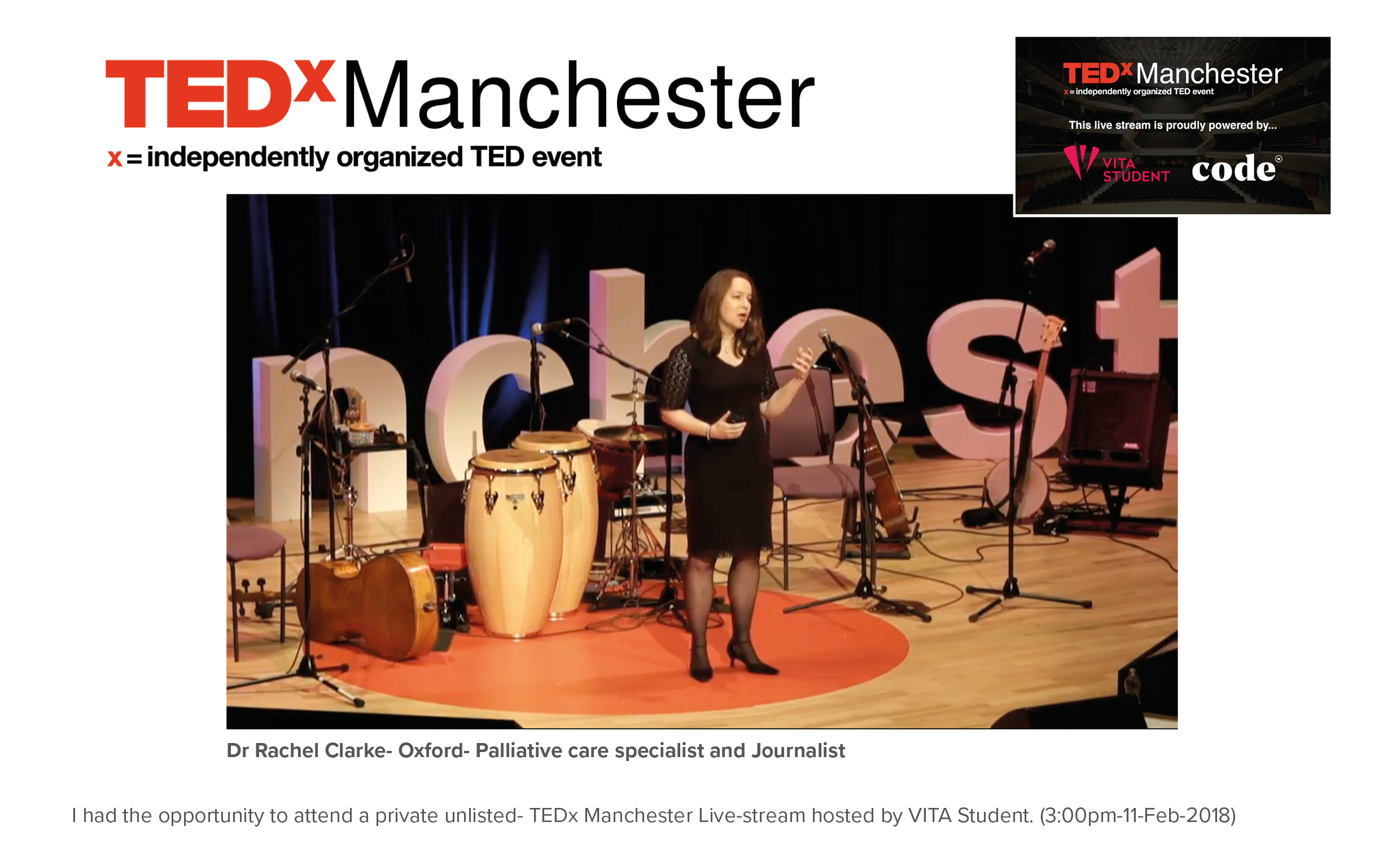 TEDx manchester 2018