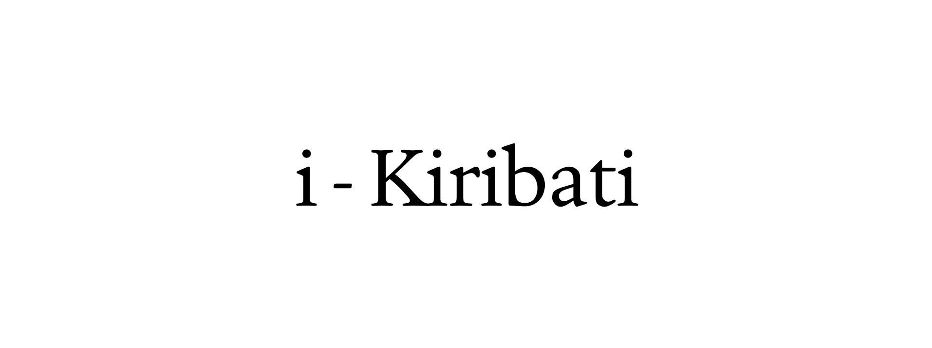 i-Kiribati word