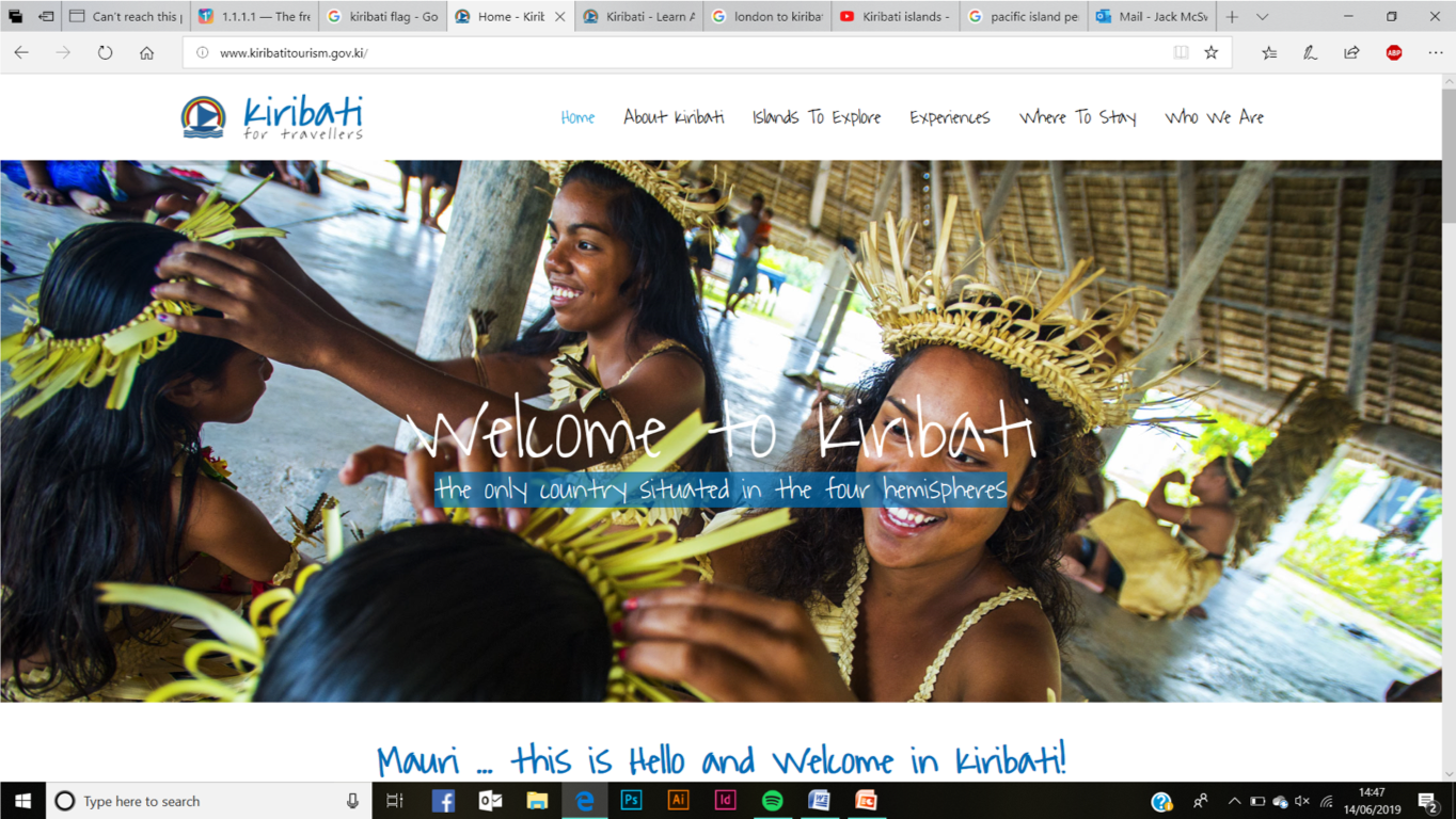 Kiribati tourism website